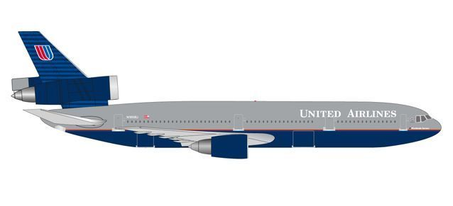 "United Airlines McDonnell Douglas DC-10-30 ""Battleship"" colors"