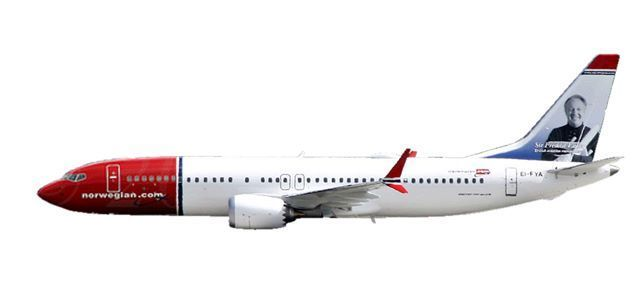 "Norwegian Air Shuttle Boeing 737 MAX 8 - EI-FYA ""Sir Freddie Laker"""