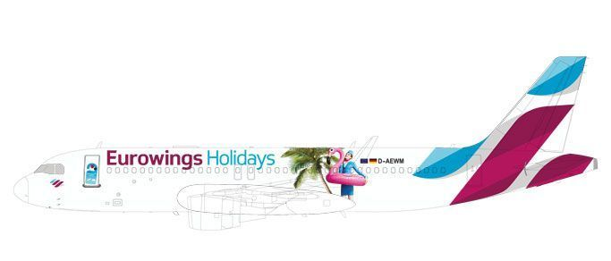 "Eurowings Europe Airbus A320 ""Eurowings Holidays"""