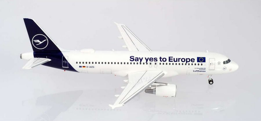 "Lufthansa Airbus A320 ""Say yes to Europe"", ""Sindelfingen"""