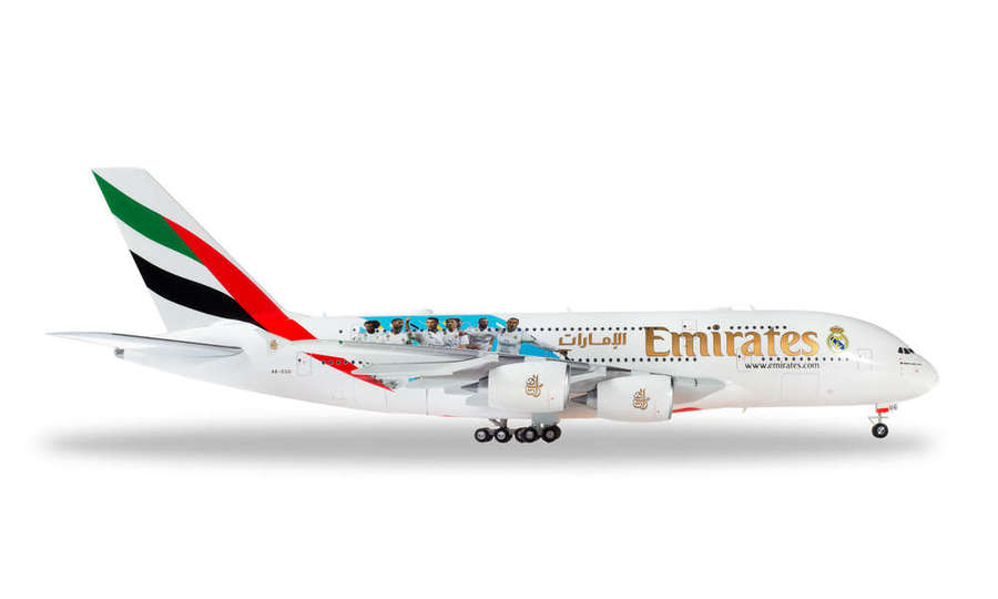 Airbus A380 Emirates Real Madrid