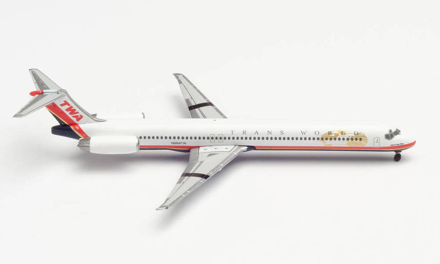 "TWA - Trans World Airlines McDonnell Douglas MD-83 ""Spirit of Long Beach"""
