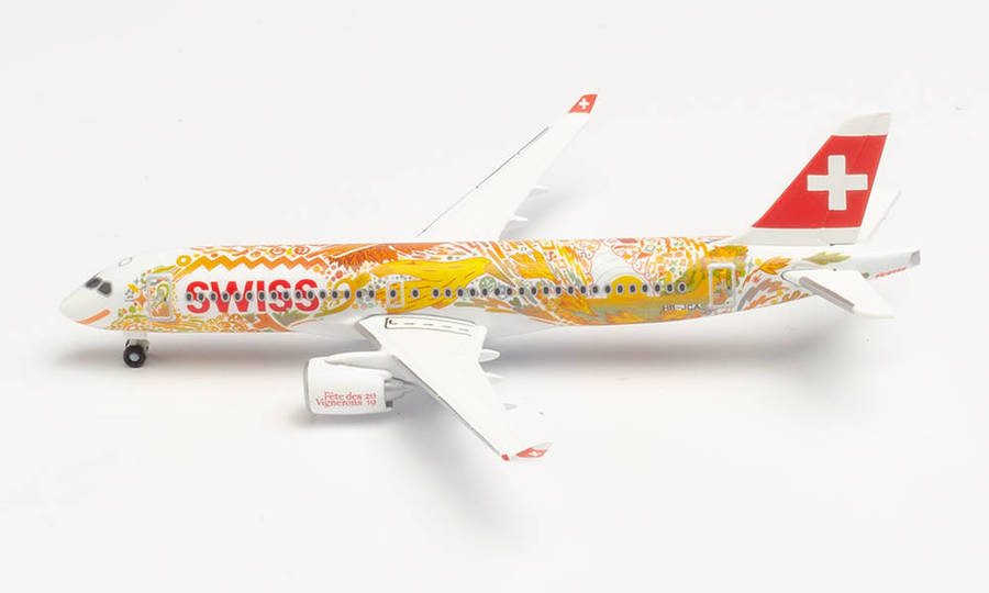 "Swiss International Air Lines A220-300 ""Fête des Vignerons"""