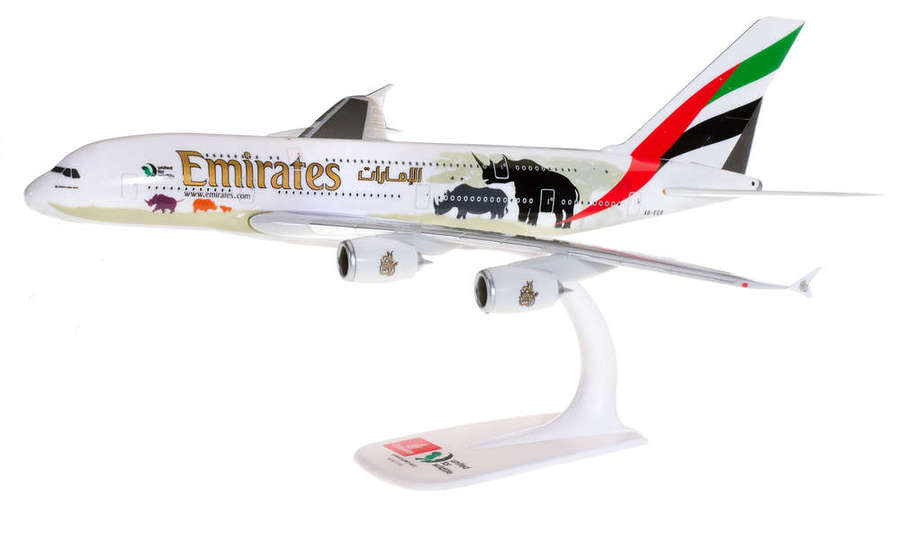 """Emirates Airbus A380 """"United for Wildlife"""" (No.2) -Modèle à emboiter"""