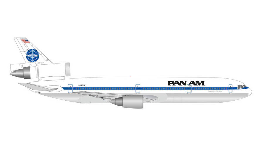 "PAN AMERICAN WORLD AIRWAYS MCDONNELL DOUGLAS DC-10-30 – N84NA ""GLORY OF THE SKIES"""