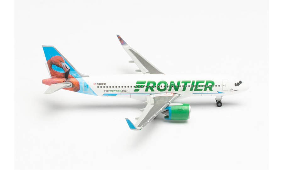"""FRONTIER AIRLINES AIRBUS A320NEO – N308FR """"FLO THE FLAMINGO"""""""