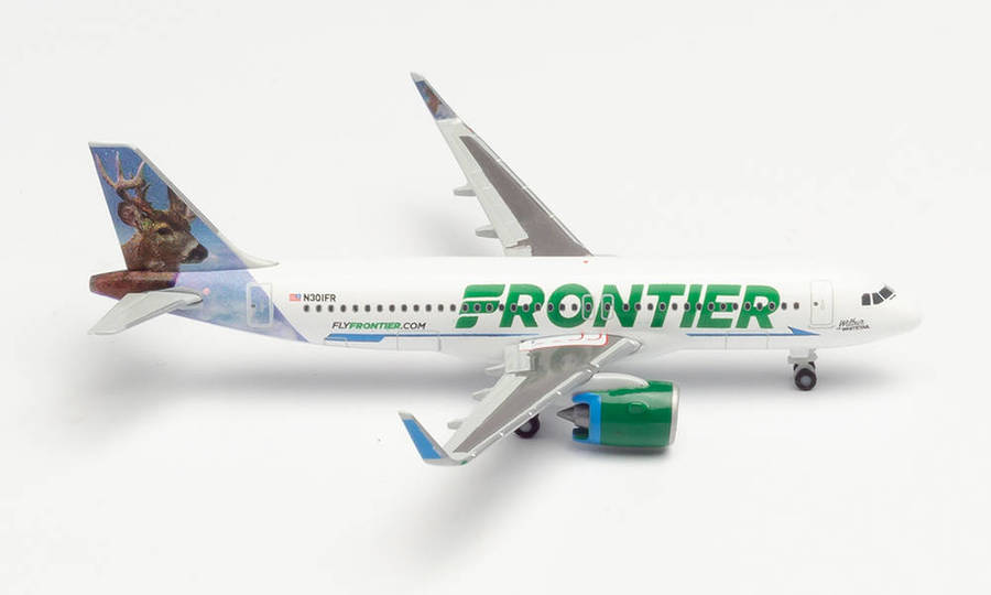 """FRONTIER AIRLINES AIRBUS A320NEO - N301FR """"WILBUR THE WHITETAIL"""""""