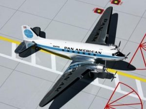 Pan American DC-3 polished N54705