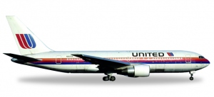 """United Airlines Boeing 767-200 - """"Rainbow / Saul Bass colors"""" – N607UA """"City of Denver"""""""