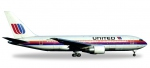"""United Airlines Boeing 767-200 - """"Rainbow / Saul Bass colors"""" """"City of Denver"""""""
