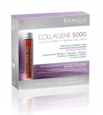 Thalgo lot de 6 Collagène 5000 Solutions rides à boire 10 monodoses