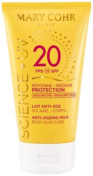 Mary Cohr Lait solaire corps moyenne protection SPF20 - 150 ml