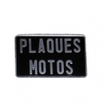 GAMME TRADITION NOIR MOTO : Plaques d'immatriculation embouties