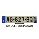 Plaque Maillefaud blanche relief courte 45.5x10