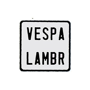 plaque d 39 immatriculation blanche vespa emboutie. Black Bedroom Furniture Sets. Home Design Ideas