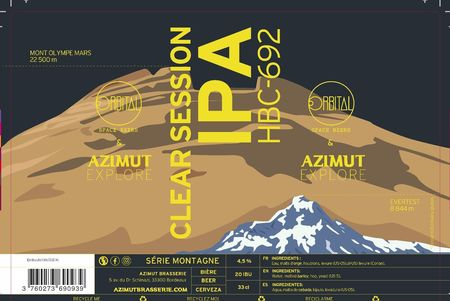 Clear session IPA Azimut 33 cl canette