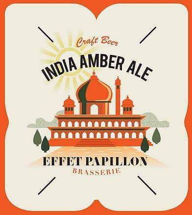 India Amber Pale Ale Effet Papillon 75 cl