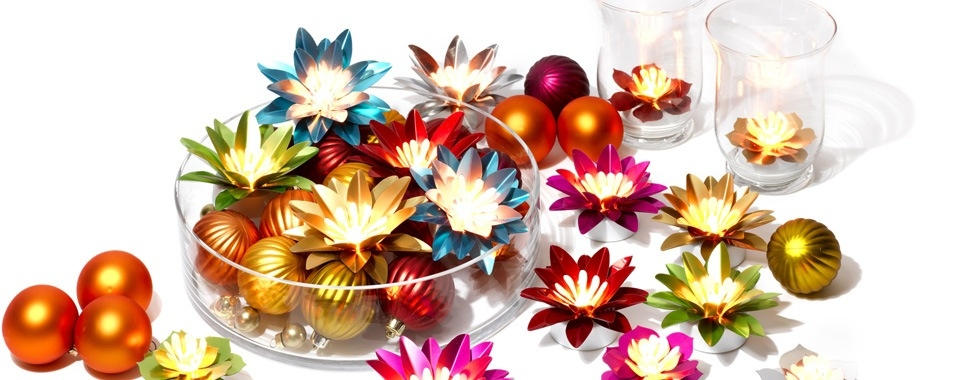 Programmable and remote controllable luminous flowers