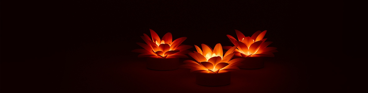 Large LED lotus