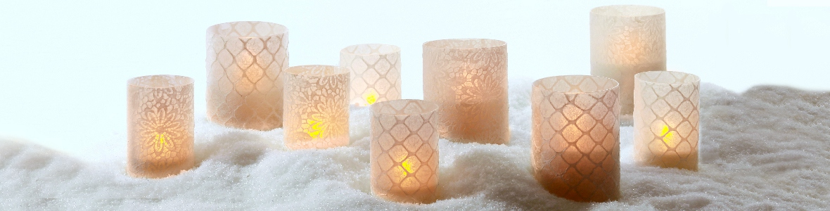 Lace tea light holders