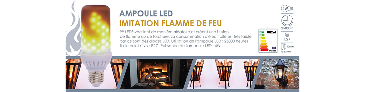 ampoule led effet faux feu bougie led fausse flamme. Black Bedroom Furniture Sets. Home Design Ideas