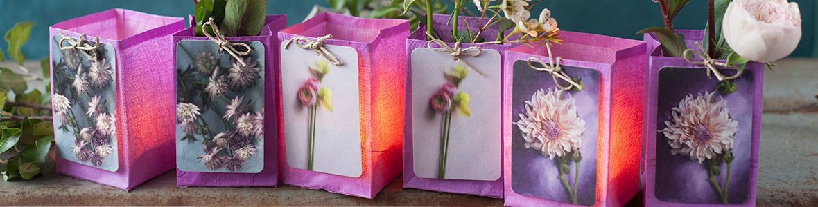 Photophores LED et Vases papier