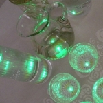 6 LED stickers - green