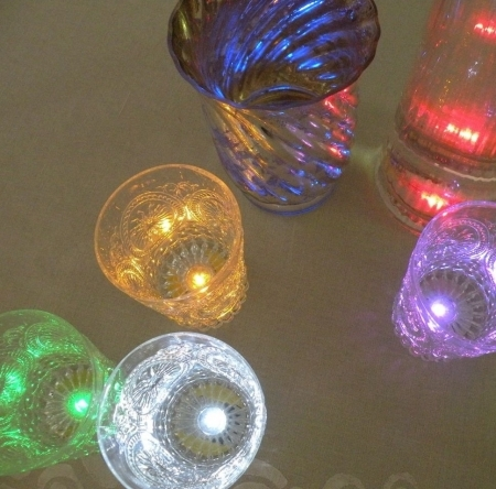 18 LED stickers - multicolour