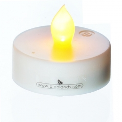 Candle holder with LED candle - one digit - H 10,5 cm