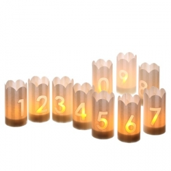 Candle holders - 2 figures -  H10,5CM - LED lights not included