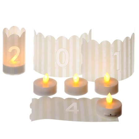 Candle holders - 11 figures -  H10,5CM - 11 LED lights included
