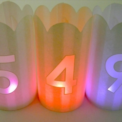 Candle holders - 11 figures -  H10,5CM - without LED lights