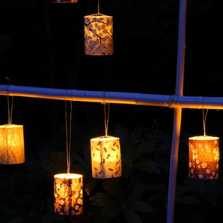 Set of 3 led japanese candle holder # 7