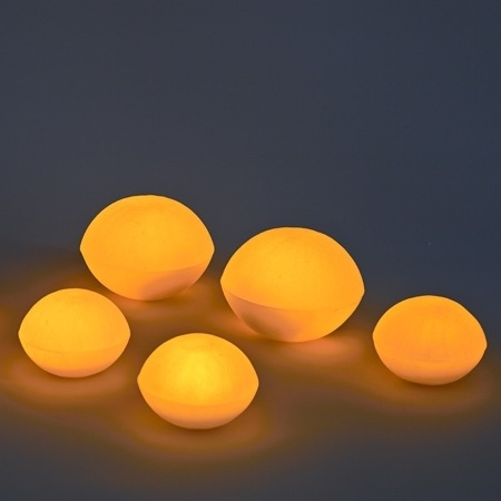 3 Small luminous pebble candle holder - Ø11CM