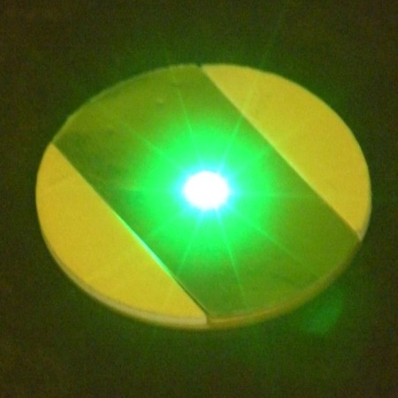 18 LED stickers - green