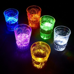 18 Stickers led  pour verre - coloris OR