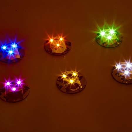 6 LED stickers - multicolour