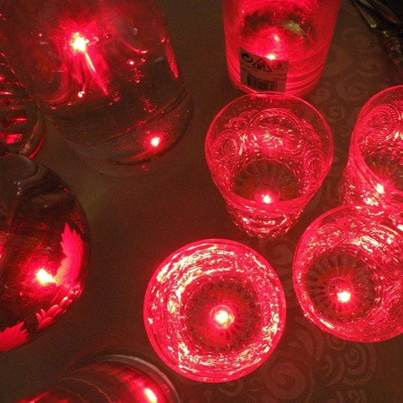 18 LED stickers - red