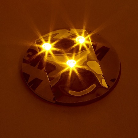 6 LED stickers - gold
