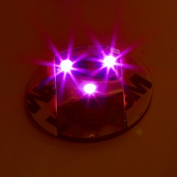 6 LED stickers - pink