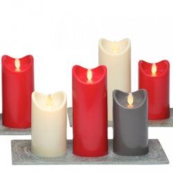 3 bougies rouges flamme vacillante bougie led oscillante. Black Bedroom Furniture Sets. Home Design Ideas