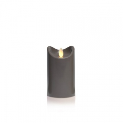 3 Bougies LED anthracite - H12.5CM