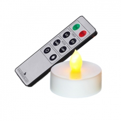 Set of 3 metallic remote contol LED tea light holder