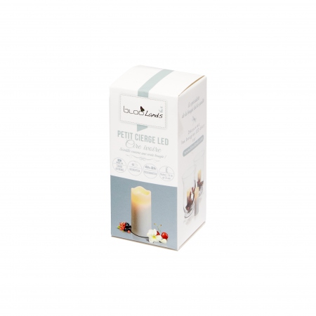 Small LED wax pillar candle - H7.6CM