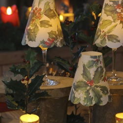 3 lampshades for wine glass - Holly
