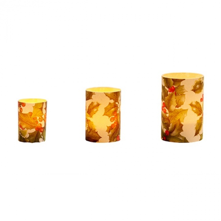 LED Candle Holder Holly - H9cm