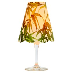 3 lampshades for wine glass - bamboo