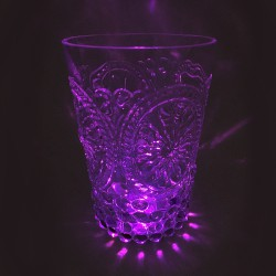 6 Stickers led -VERRE - Rose