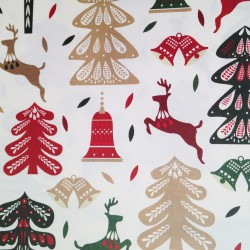 3 lampshades for wine glass - deers & Christmas tree