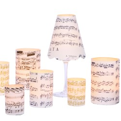 3 Lampshades Music Score - Blue
